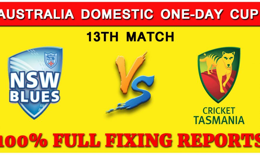 Australia Domestic One-Day Cup 2019: New South Wales vs Tasmania 13TH Match Prediction