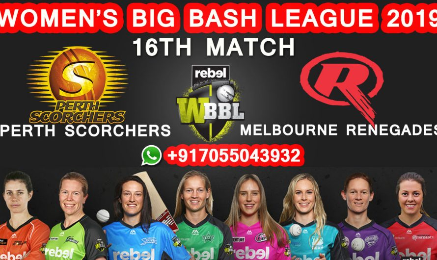 Women's Big Bash League, 16th Match Perth Scorchers Women vs Melbourne Renegades Women, WBBL 2019 Match Prediction