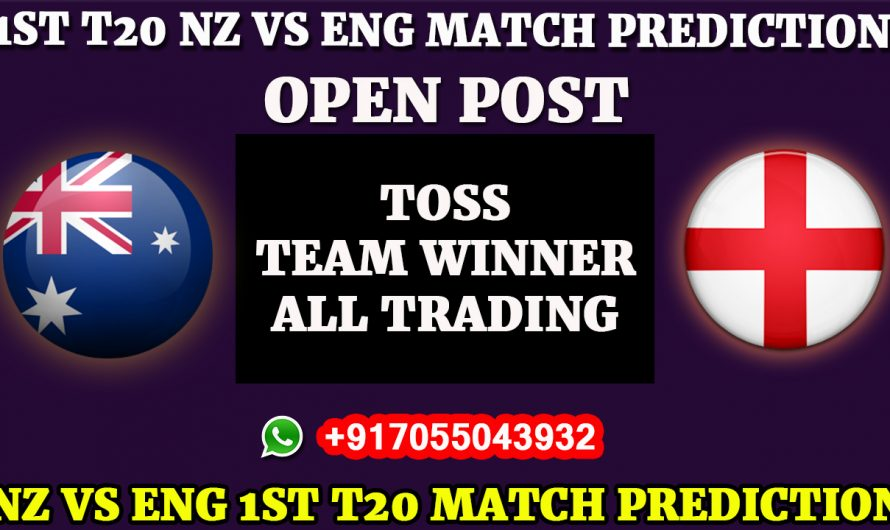 England tour of New Zealand 2019, 1st T20 New Zealand vs England, Match Prediction NZ VS ENG