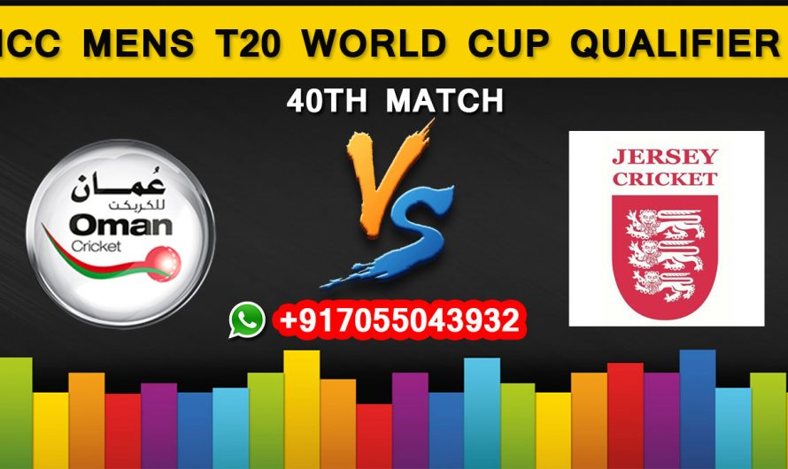 ICC T20 World Cup Qualifier 2019: Oman vs Jersey, 40th Match Prediction