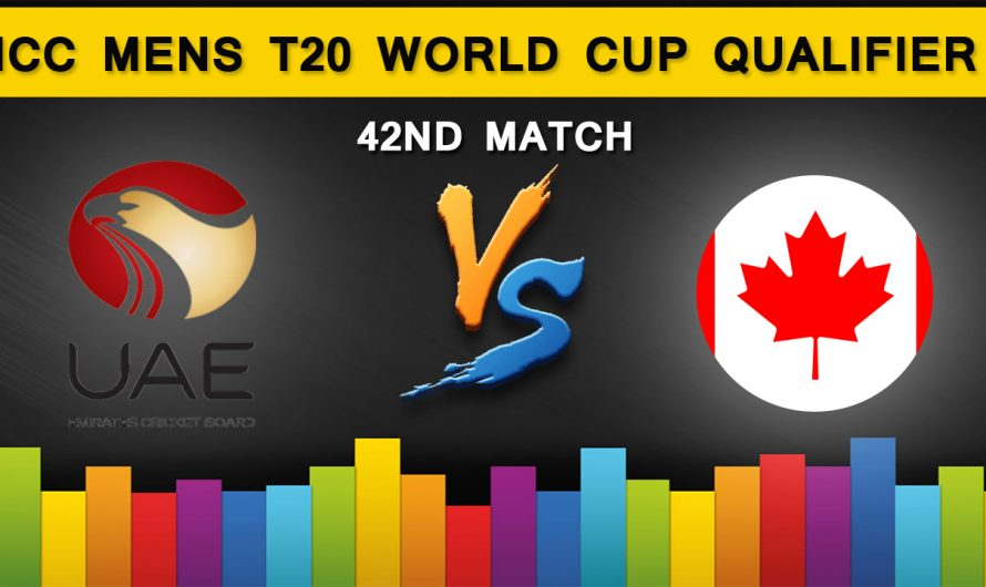 ICC T20 World Cup Qualifier 2019: United Arab Emirates vs Canada, 42ND Match Prediction
