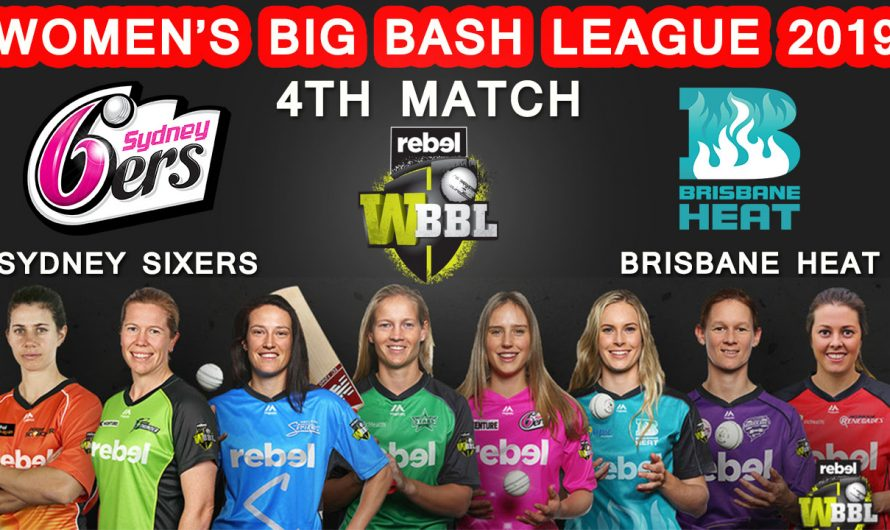 Womens Big Bash League, 4th match Sydney Sixers Women vs Brisbane Heat Women, Match Prediction