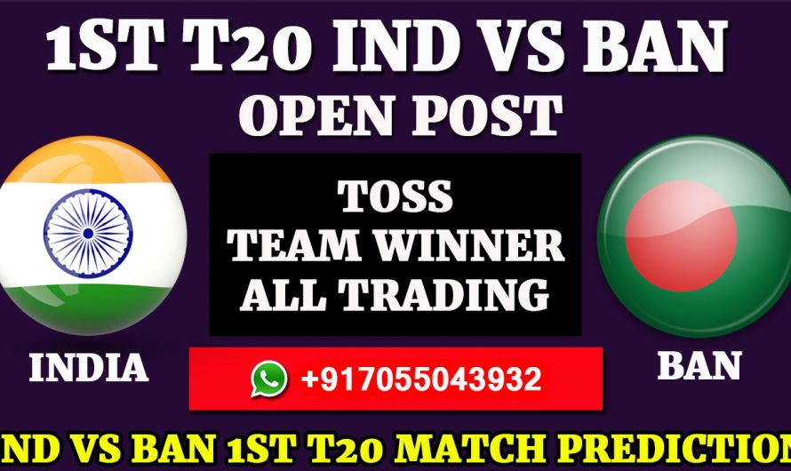 1ST Match, India vs Bangladesh Match Prediction, IND VS BAN