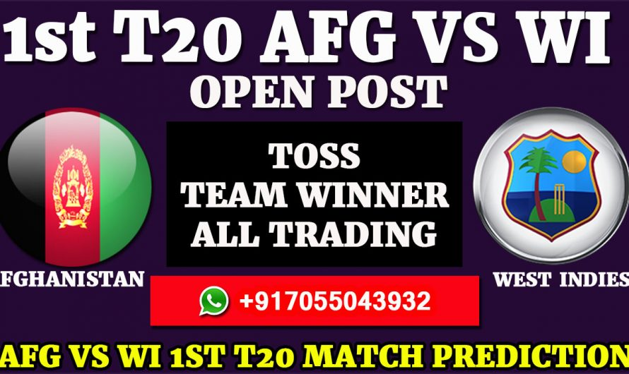 1st T20 Match, Afghanistan vs West Indies Match Prediction & Tips, AFG VS WI