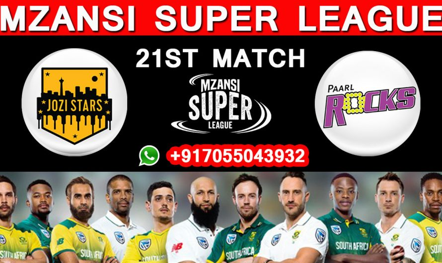 21ST Match MSL 2019, Jozi Stars vs Paarl Rocks, Match Prediction & TIPS, JS VS PR