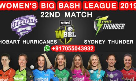 22nd MATCH Hobart Hurricanes Women vs Sydney Thunder Women