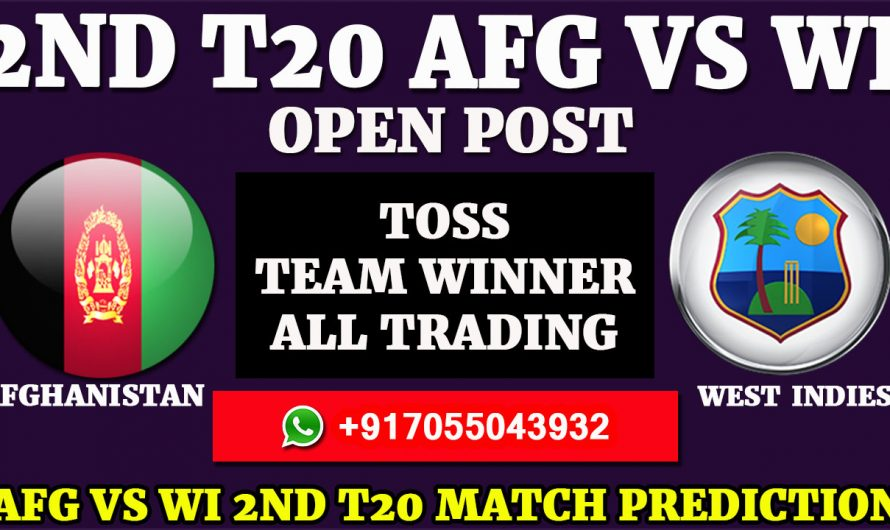 2ND T20 Match, Afghanistan vs West Indies Match Prediction & Tips, AFG VS WI