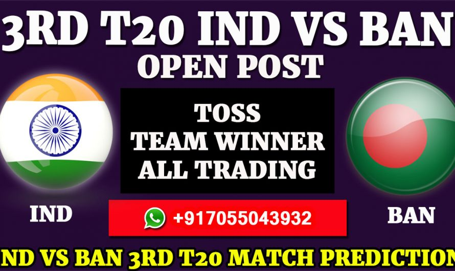 3RD T20 Match, India vs Bangladesh Match Prediction, IND VS BAN