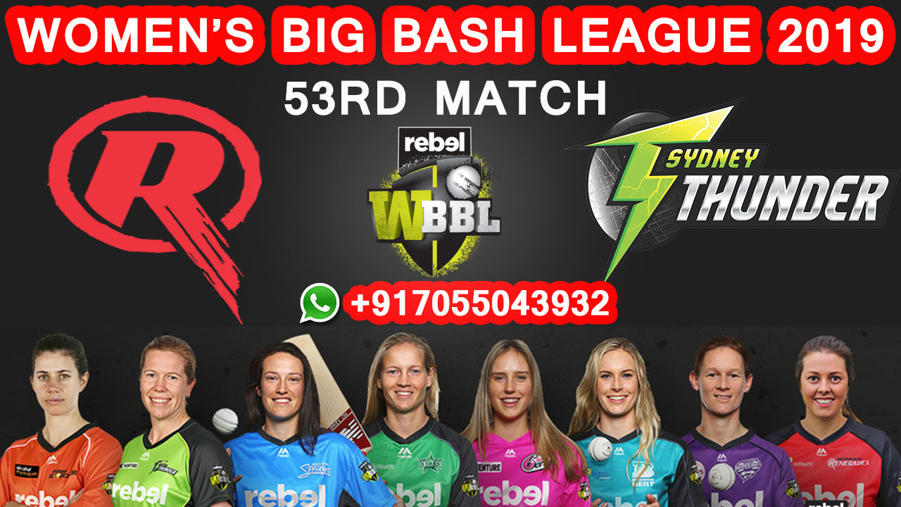 Melbourne Renegades vs Sydney Thunder