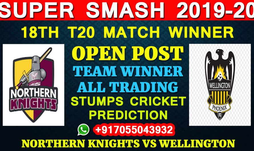18TH T20 Match, Super Smash 2019-20: Northern Knights vs Wellington, Full Prediction & Tips