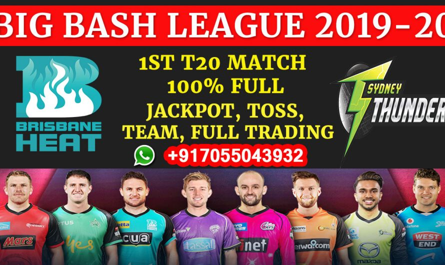 1ST T20 Match, BBL 2019-20: Brisbane Heat vs Sydney Thunder, Full Prediction & Tips