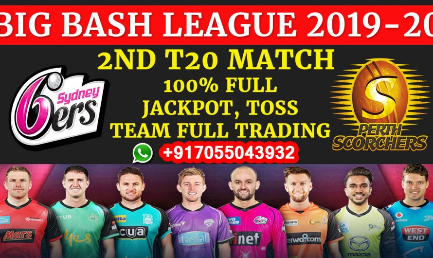 2ND T20 Match, BBL 2019-20: Sydney Sixers vs Perth Scorchers, Full Prediction & Tips