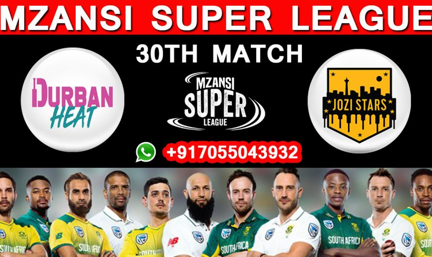 30TH Match MSL 2019, Durban Heat vs Jozi Stars, Match Prediction & TIPS, DH VD JS