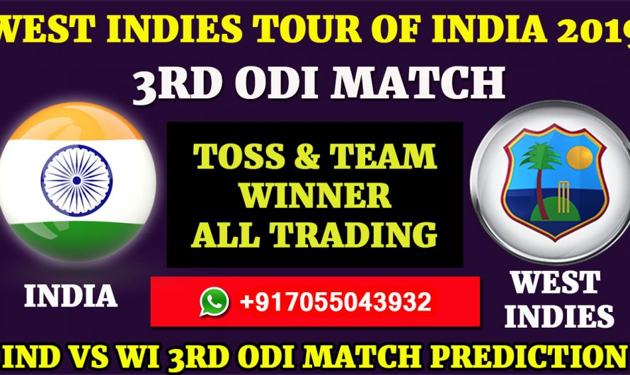 3RD ODI Match, West Indies tour of India 2019: India vs West Indies, Match Prediction & Tips, IND VS WI