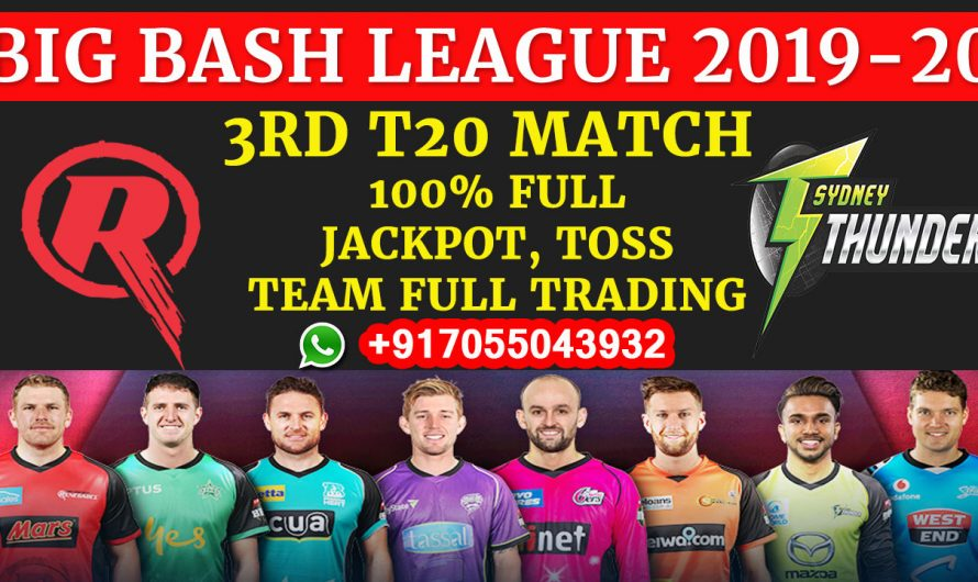 3RD T20 Match, BBL 2019-20: Melbourne Renegades vs Sydney Thunder, Full Prediction & Tips