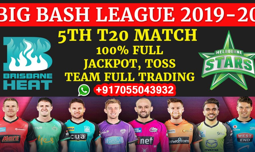 5TH T20 Match, BBL 2019-20: Brisbane Heat vs Melbourne Stars, Full Prediction & Tips
