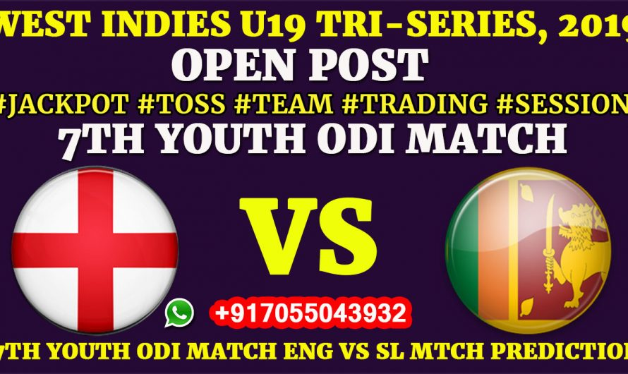 7TH YOUTH ODI MATCH, England U19 vs Sri Lanka U19, Full Prediction & Tips, ENG U19 VS SL U19