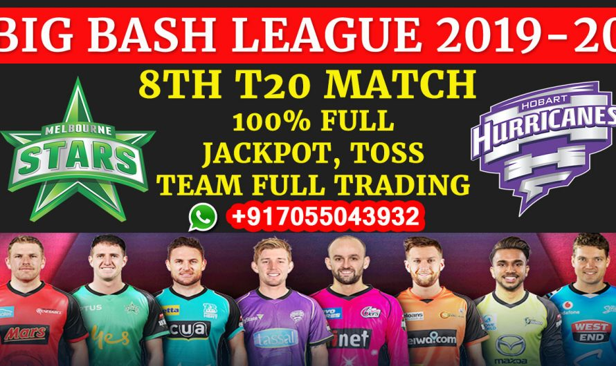 8TH T20 Match, BBL 2019-20: Melbourne Stars vs Hobart Hurricanes, Full Prediction & Tips