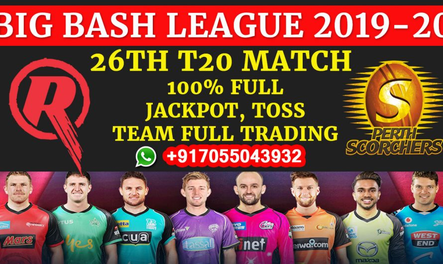 26TH T20 Match, BBL 2019-20: Melbourne Renegades vs Perth Scorchers, Full Prediction & Tips