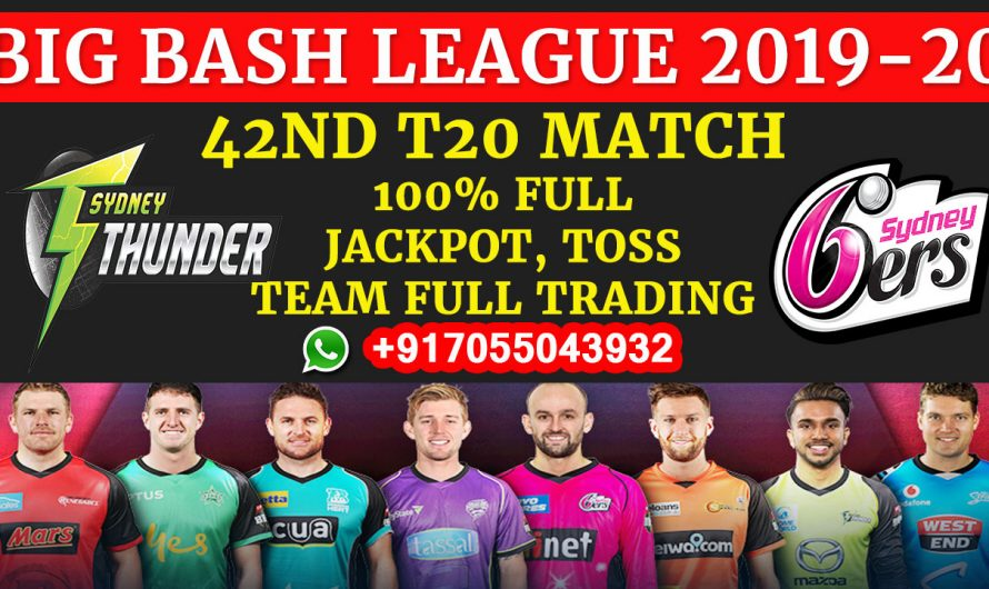 42ND T20 Match, BBL 2019-20: Sydney Thunder vs Sydney Sixers, Full Prediction & Tips