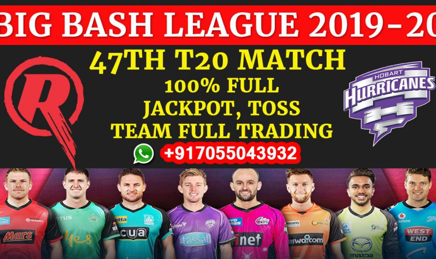 47TH T20 Match, BBL 2019-20: Melbourne Renegades vs Hobart Hurricanes, Full Prediction & Tips