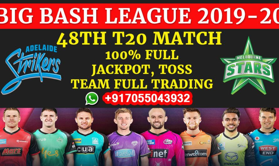 48TH T20 Match, BBL 2019-20: Adelaide Strikers vs Melbourne Stars, Full Prediction & Tips