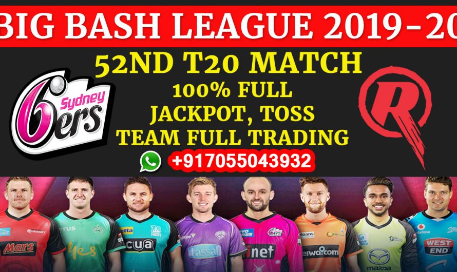 52ND T20 Match, BBL 2019-20: Sydney Sixers vs Melbourne Renegades, Full Prediction & Tips