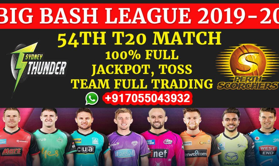 54TH T20 Match, BBL 2019-20: Sydney Thunder vs Perth Scorchers, Full Prediction & Tips
