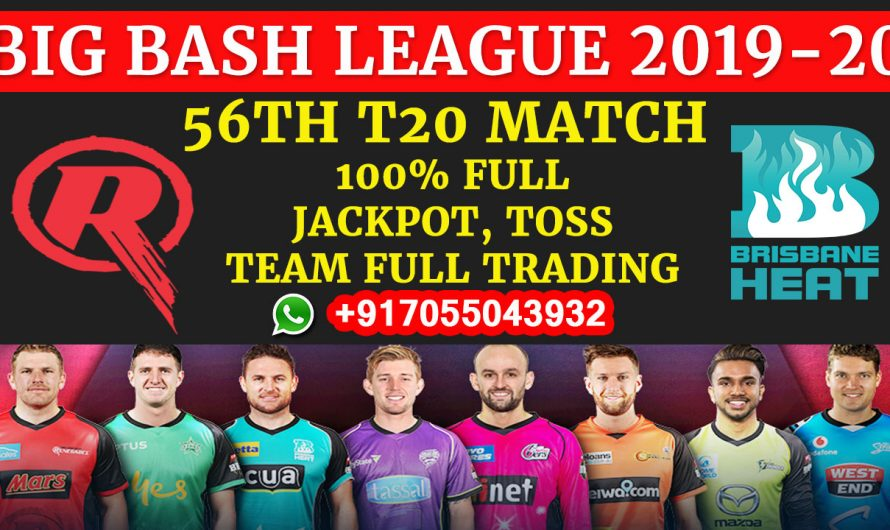 56TH T20 Match, BBL 2019-20: Melbourne Renegades vs Brisbane Heat, Full Prediction & Tips