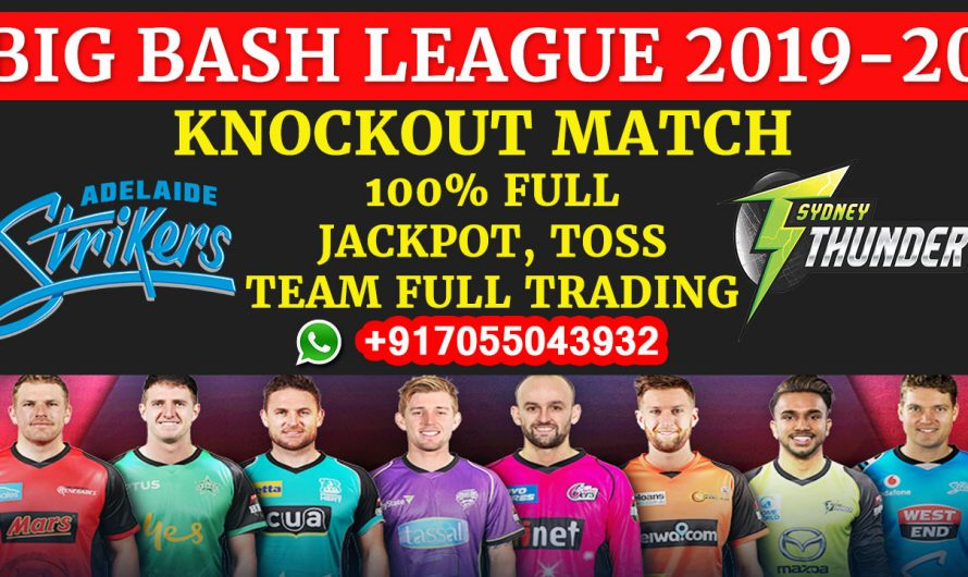 Knockout T20 Match, BBL 2019-20: Adelaide Strikers vs Sydney Thunder, Full Prediction & Tips
