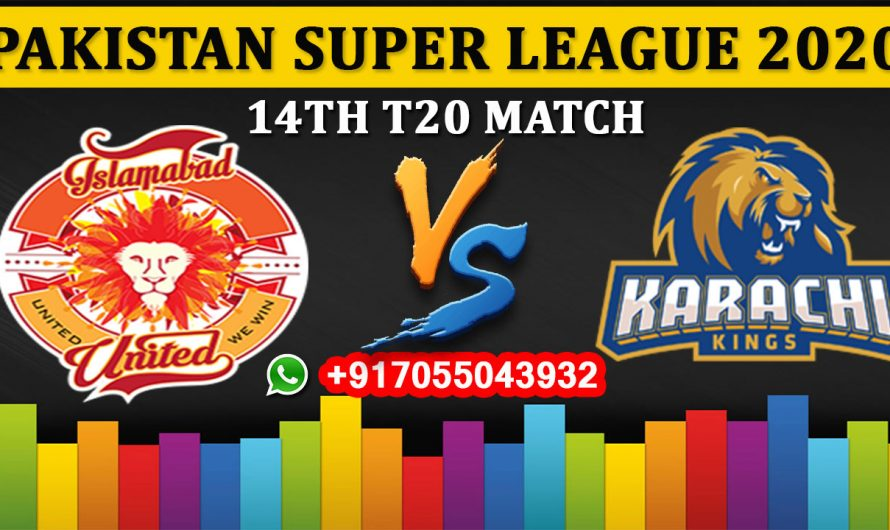 14TH T20 Match, PSL 2020: Islamabad United vs Karachi Kings, Full Prediction & Tips
