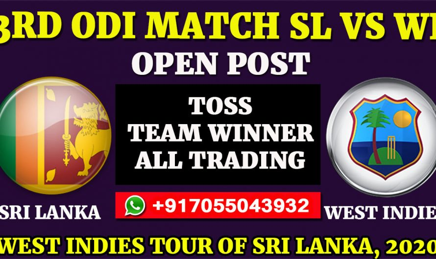 3RD ODI  Match, West Indies tour of Sri Lanka 2020: Sri Lanka vs West Indies, Full Prediction & Tips