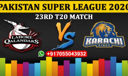 Lahore Qalandars vs Karachi Kings