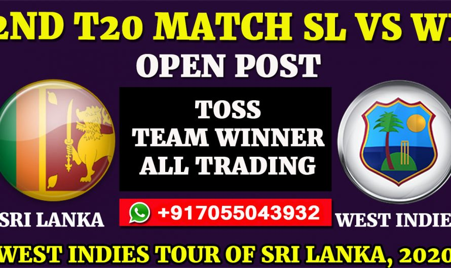 2nd T20  Match, West Indies tour of Sri Lanka 2020: Sri Lanka vs West Indies, Full Prediction & Tips