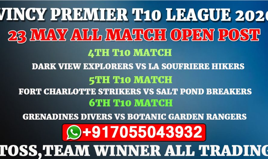 Vincy Premier T10 League 2020: 23 May All Match, Full Prediction & Tips