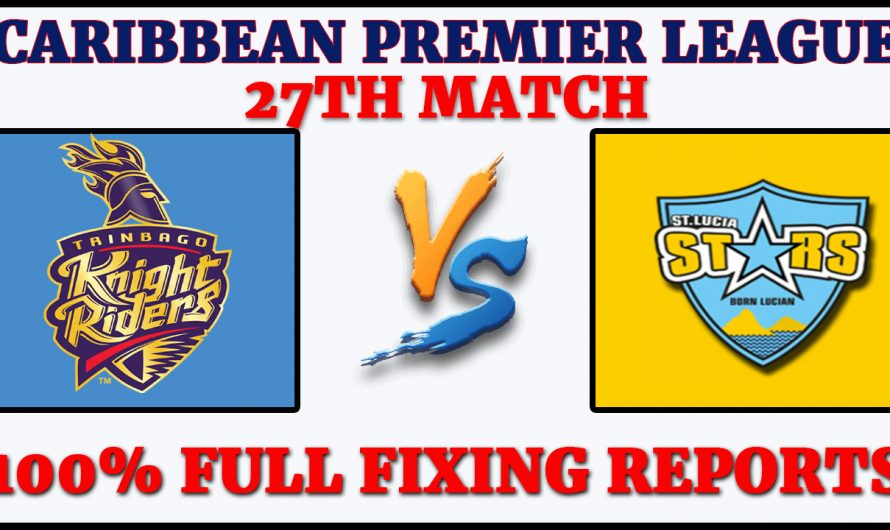 27TH Match CPL 2020, Trinbago Knight Riders vs St Lucia Zouks, TKR VS STZ, Match Prediction
